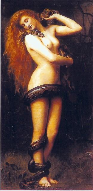 Lilith: Primera mujer de Adán (Tradición rabínica hebrea) (Cuadro: John Collier)