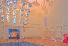 Mirror Ball Array Shadow Room - Brian Eno Speaker Flowers Sound Installation at Marlborough House