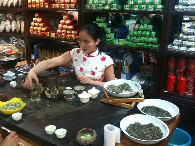Tea tasting in Beijing