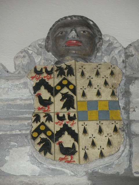 Coat of arms on the tomb of Jane Colt, first wife of Thomas More