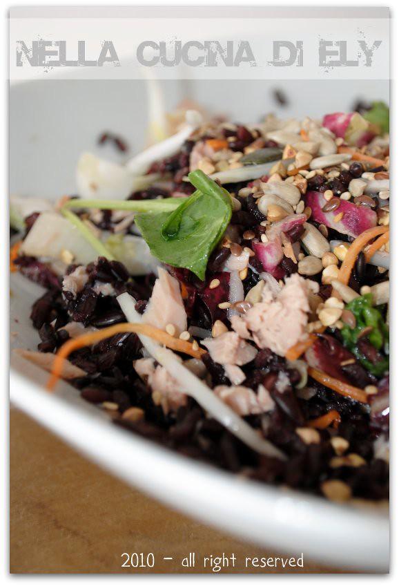 Nella cucina di ely riso venere in insalata e libro al seguito - Cucinare riso venere ...