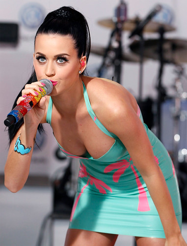 Katy Perry performing in Times Square