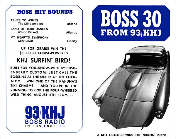 1966 - July 13 - Issue #54 - The KHJ Surfin' Bird custom car.