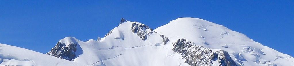 Skitour Montblanc Längsüberschreitung, 4810 m, mit Mont Maudit, 4465 m. Foto: Günther Härter.