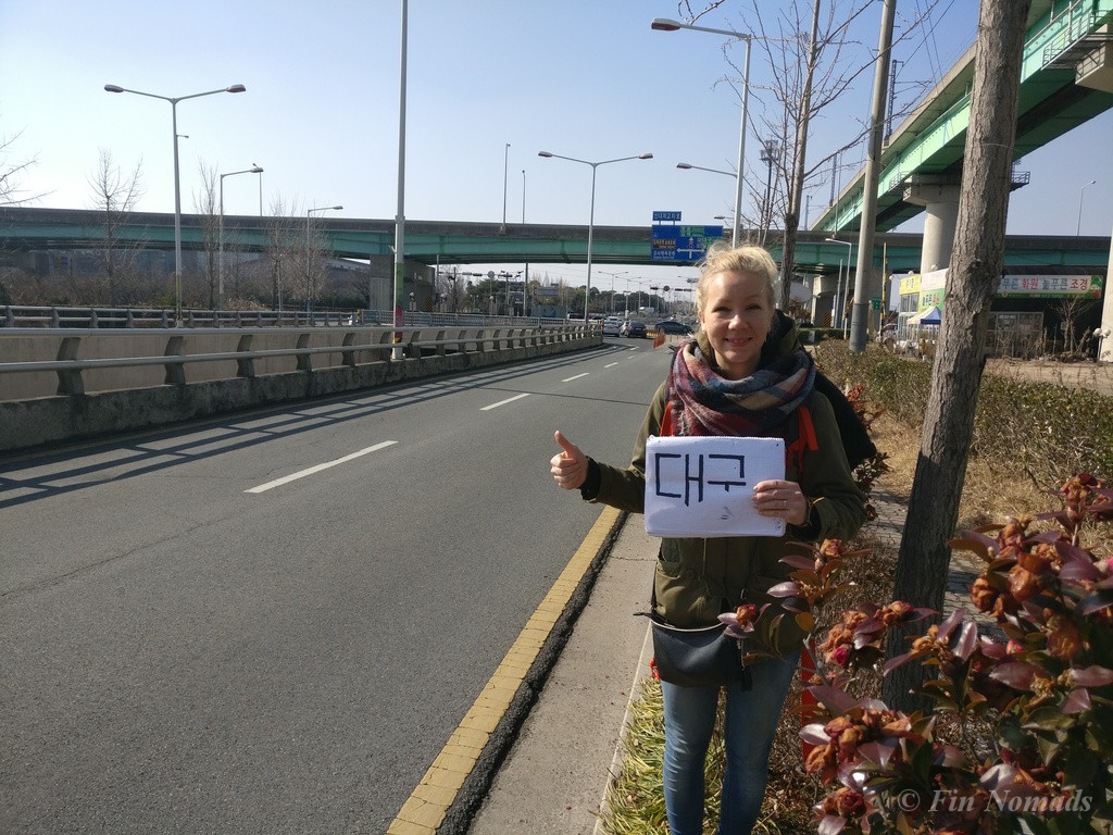 hitchhiking South Korea