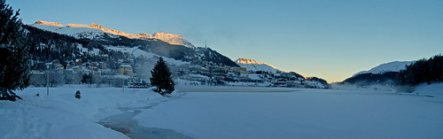 winter lake sunrise schweiz switzerland see suisse svizzera sonnenaufgang engadin stmoritz oberengadin graubünden grisons upperengadine grigioni