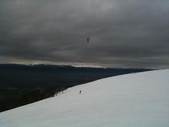 Snow kite surf