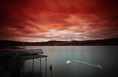 sunset lake clouds long exposure hungary tó magyarország cokin 15sec orfű felhők sigma1020 nd8 nd4 gradtobacco