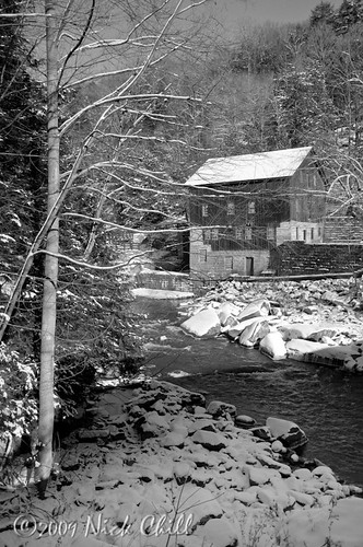 christmas old winter snow cold building mill ice nature river photography frozen nikon december image pennsylvania antique stock scenic freezing historic winterwonderland dx d90 mcconnellsmillstatepark nickchill nikond90bw