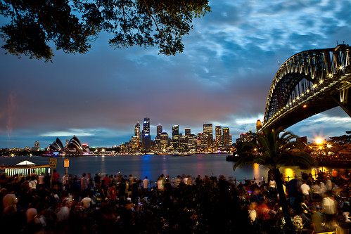 Sydney harbour waiting for fireworks