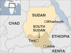 Areas in South Sudan where people have been killed recently over grazing rights for their cattle. The country held an election during January 2011 that led to separation from Khartoum. by Pan-African News Wire File Photos