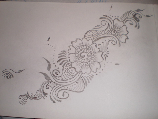 how to draw mehndi patterns