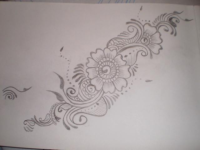 Mehndi Patterns Drawings : How to draw mehndi