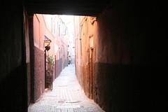 Ruas da medina antiga de Marrakech