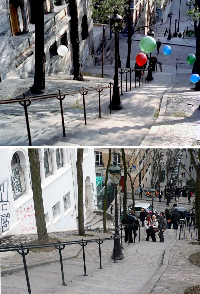 Montmartre steps 1956-2010