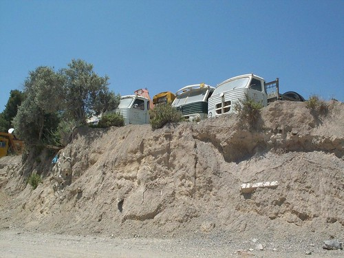 Camions desballestats a Eivissa