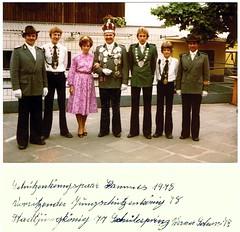 1978, Schützenkönigspaar Anneliese und Stefan Hammes, SW130