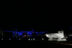 VSS Enterprise seen at night near SpaceShipOne lifesize model_Mark Greenberg