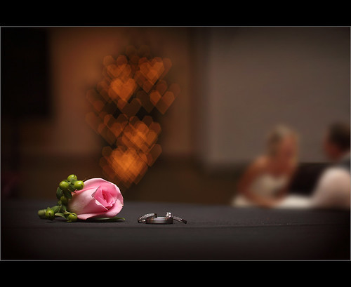 Wedding Ring ~ Heart Bokeh Love ~
