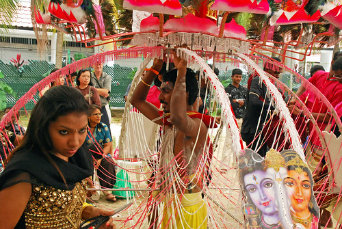The kavadi bearer and his sister