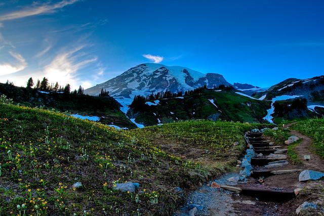 Paradise's scenic stairway