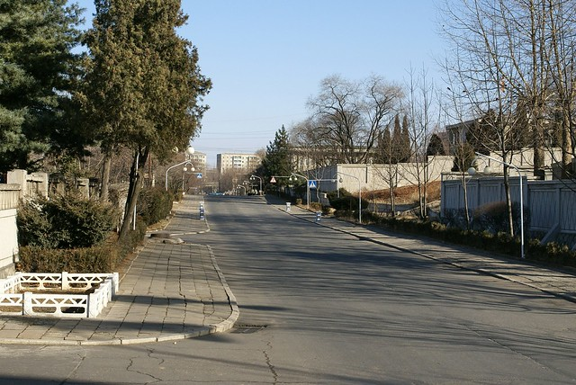 Main road, diplomatic quarter, Pyongyang
