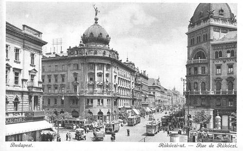 Old postcards of Budapest – Rakoczi Street