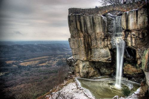 city mountain rock ga georgia high lookout falls
