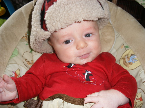 Baby Nate Cheers on Team Canada in 2010