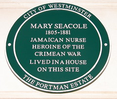 Photo of Mary Seacole green plaque