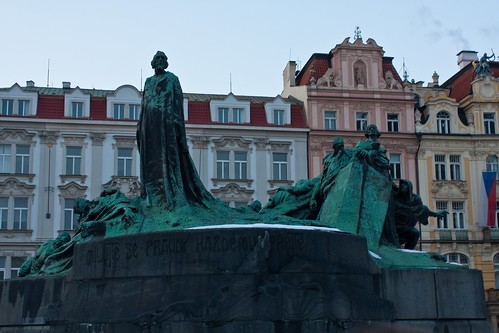 Jan Hus Monument in Old Town Square
