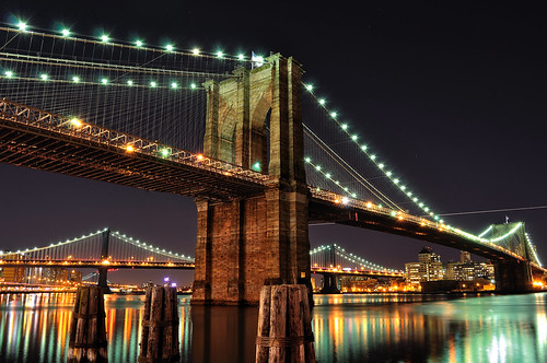 Brooklyn Bridge at Night, NYC