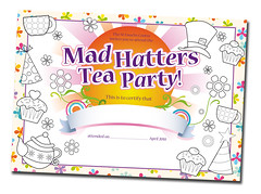 Mad Hatters Certificate (Design & Print)