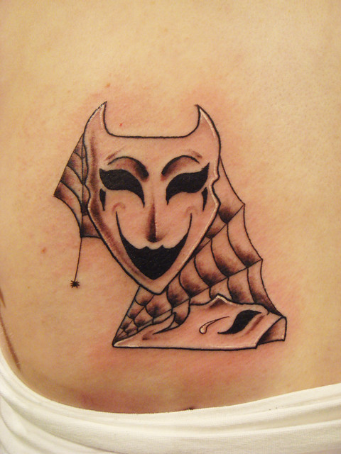 theatre mask tattoo designed by natalia radziwillowicz flickr photo sharing. Black Bedroom Furniture Sets. Home Design Ideas
