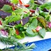 springtime fresh strawberry and beet salad with rosemary -lemon vinaigrette