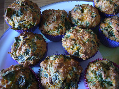 Hummingbird Bakery spinach and cheese muffins
