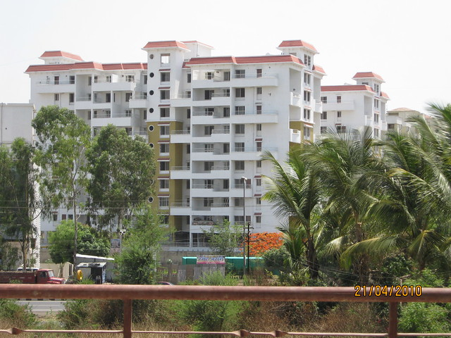 View of Rahul Park from Anant Apartments Warje, Pune