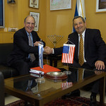 Minister of Defense Ehud Barak and Special U.S. Envoy Senator George Mitchell