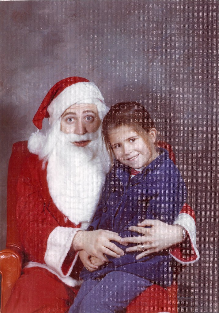 Bright, Mary Louise with poor Santa