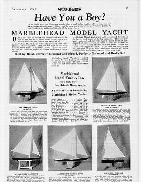 1925 MODEL SAILBOAT NAUTICAL YACHT MARBLEHEAD BOY TOY | Flickr