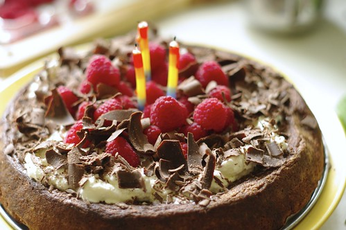 Raspberry Topped Chocolate Torte
