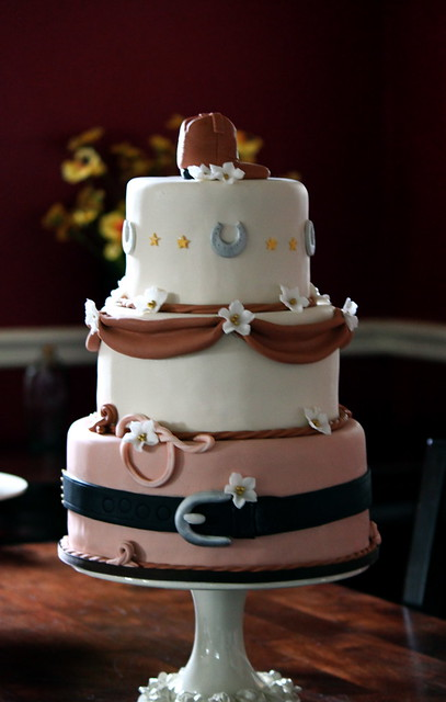 Alissa Pat 39s Western Wedding Cake I met Alissa the bride at one of my