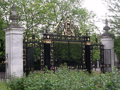 Jubilee gates dating from 1935 in Queen Mary's Gardens, Regent's Park