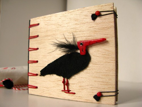 Bald Ibis, Secret Belgian Binding Balsa Wood Notebook