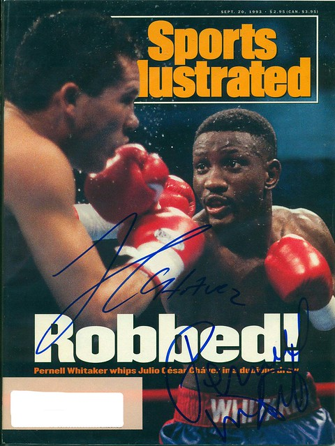 September 20, 1993, Autographed Sports Illustrated by Pernell Whitaker and Julio Cesar Chavez