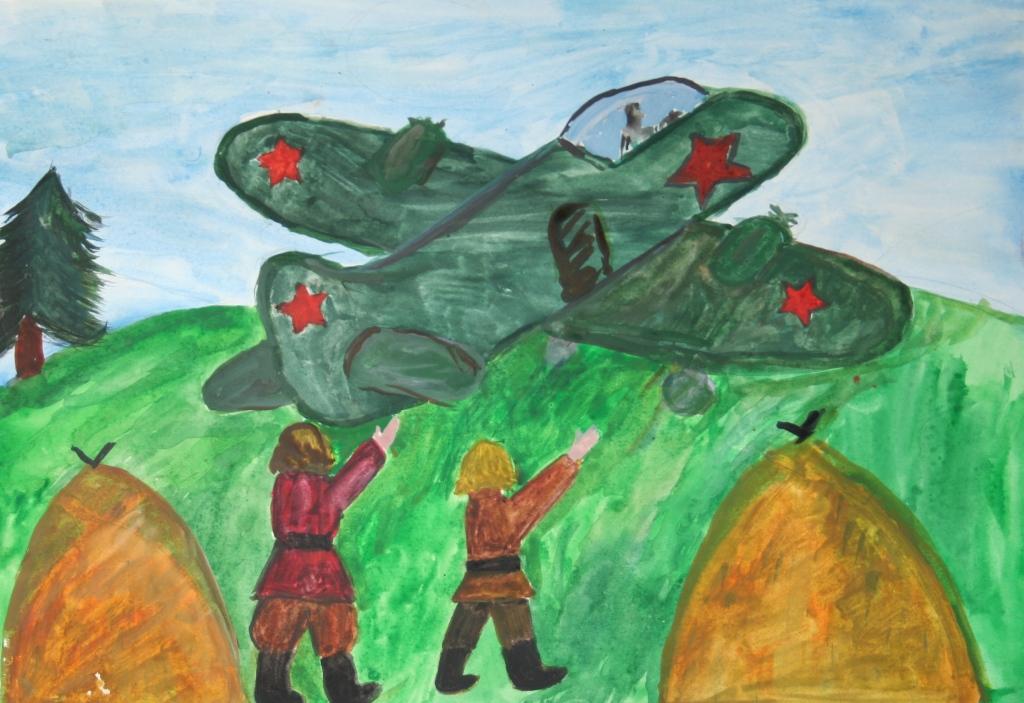 Нарисовать картинку о войне для детей
