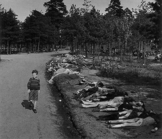 Young German boy at Bergen Belsen, by George Rodger