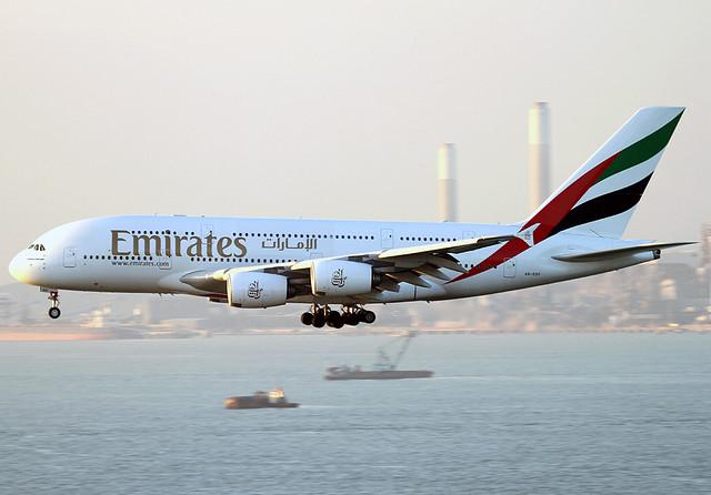 Airbus | A380-861 | Emirates | A6-EDF | Hong Kong | HKG | VHHH