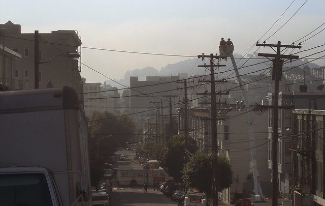 telephone pole workers, san francisco (2010)