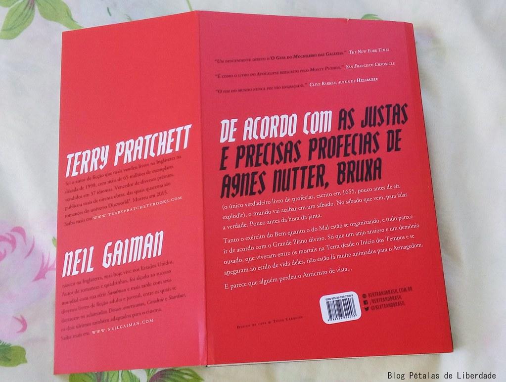 Resenha, livro, Belas-Maldições, Terry-Pratchett, Neil-Gaiman, Bertrand-Brasil, diagramação, trecho, citação, foto, contracapa